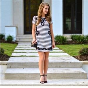 Anthropologie Postmark XS Striped Dress